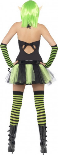 Déguisement elfe verte femme-2