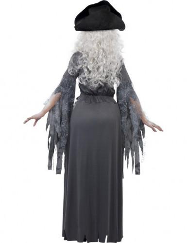 Déguisement fantôme pirate grise femme Halloween-2
