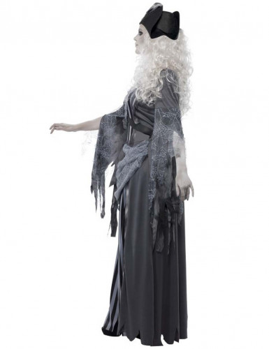 Déguisement fantôme pirate grise femme Halloween-1
