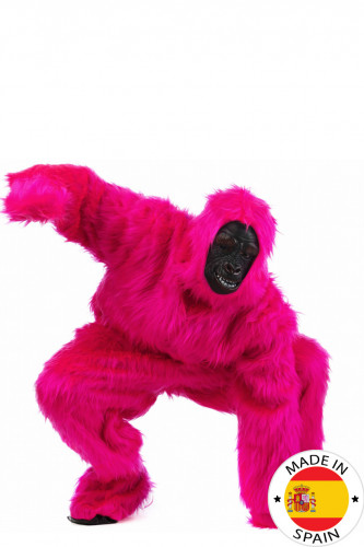 Déguisement Gorille Rose fluo Adulte