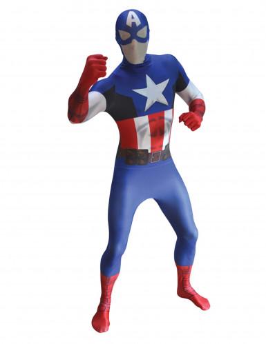 Déguisement Captain America™ Morphsuits™ adulte