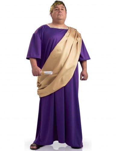 Déguisement romain en toge grande taille homme