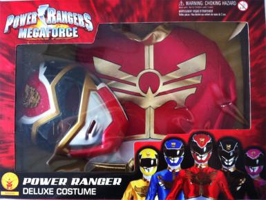 Coffret déguisement rembourré Power Rangers Megaforce™ rouge garçon-1