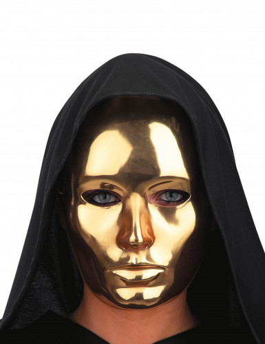 Masque visage doré chromé adulte