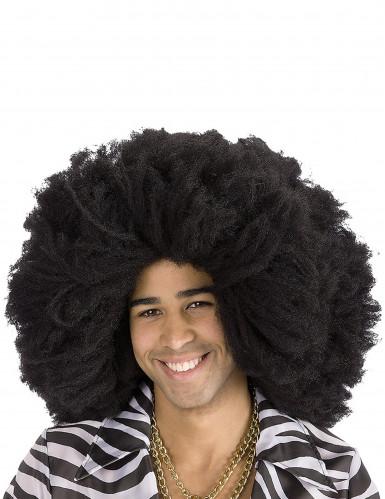 Maxi perruque afro noire adulte