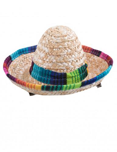 Mini sombrero colorée femme-1