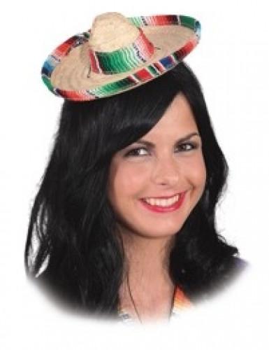 Mini sombrero colorée femme