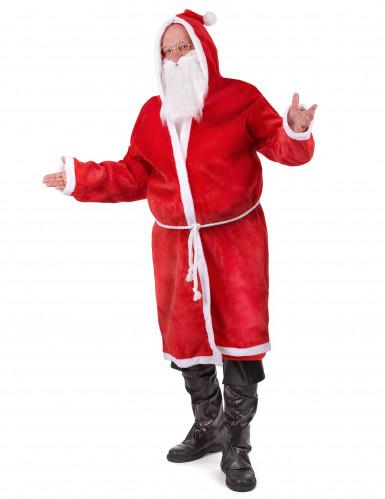 Déguisement Père Noël avec barbe adulte-1