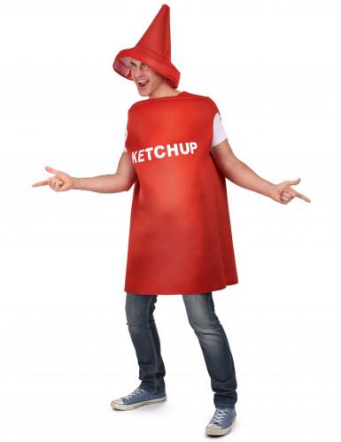 Déguisement pot de ketchup adulte