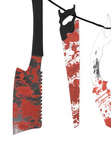 Guirlande outils ensanglantés 118 cm-1