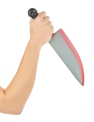 Couteau ensanglanté en plastique Halloween-1