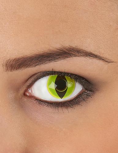 Lentilles fantaisie oeil reptile jaune 3 mois adulte