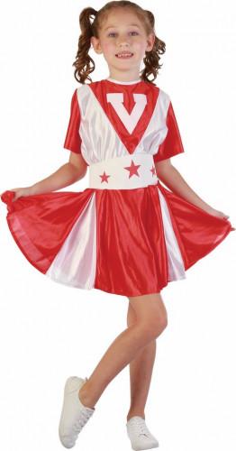 Déguisement pompom rouge et blanc girl fille
