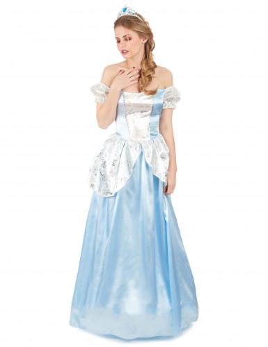 Déguisement princesse cendrillon bleue femme