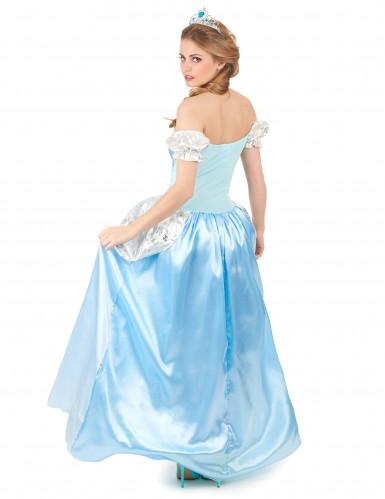 Déguisement princesse cendrillon bleue femme-2