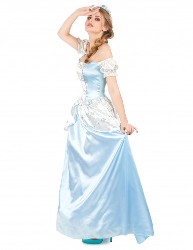 Déguisement princesse cendrillon bleue femme-1