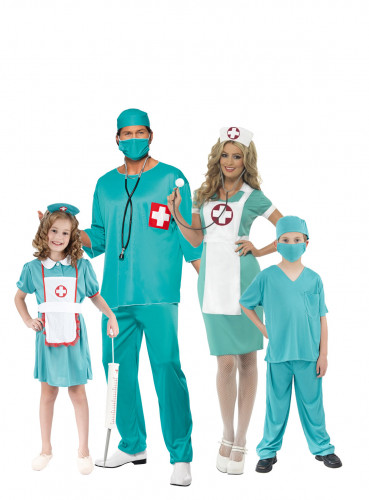 Déguisement de famille médecin