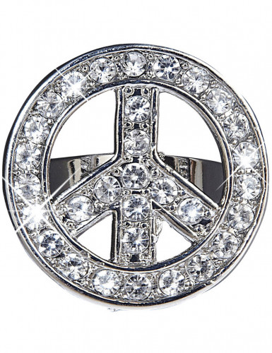 Bague hippie strass adulte