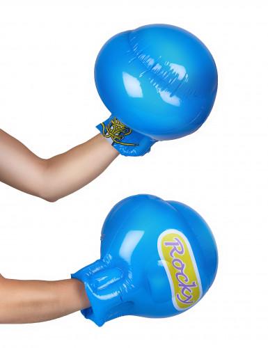Gants boxe bleus gonflables-1