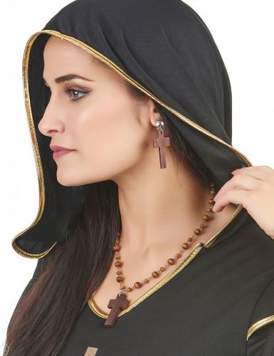 Kit collier et boucles d'oreilles religieuse femme-1