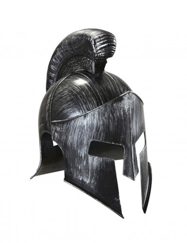 Casque gladiateur romain argent adulte-1
