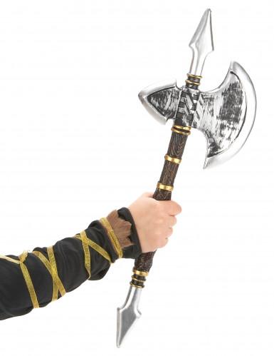 Hache pointes viking en plastique 60 cm-1