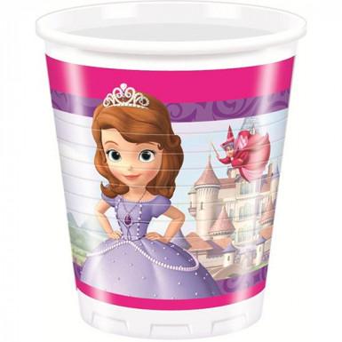 8 copos Princesa Sofia�