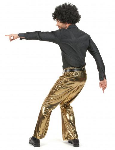 Pantalon doré homme-2