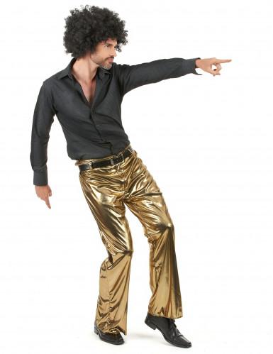 Pantalon doré homme-1