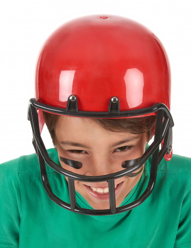 Casque footballeur américain rouge enfant-2