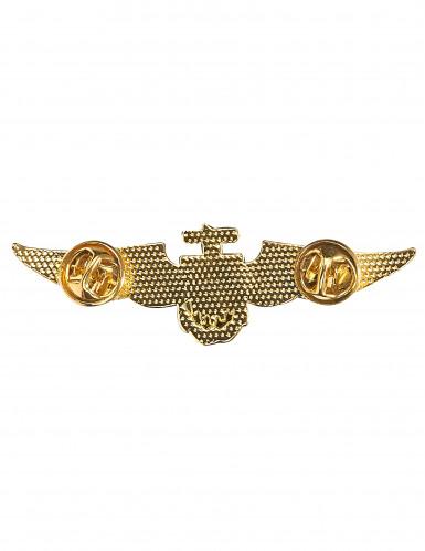 Broche pilote aviateur dorée-1