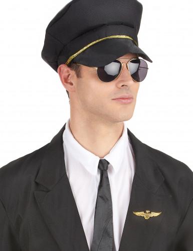 Broche pilote aviateur dorée-2