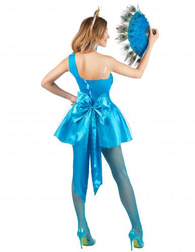 Déguisement paon bleu femme-2