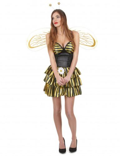 Déguisement abeille femme noir et or
