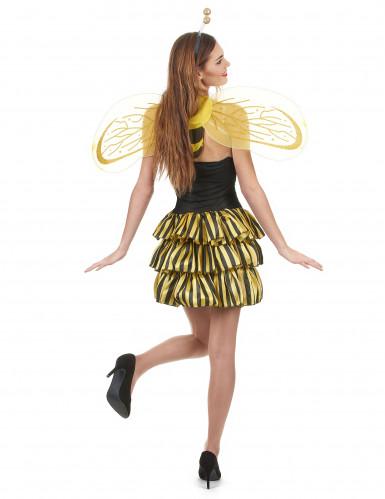 Déguisement abeille femme noir et or-2