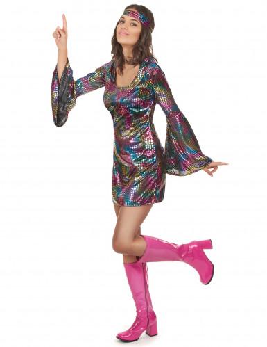 Déguisement disco multicolore femme-1
