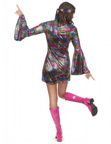 Déguisement disco multicolore femme-2