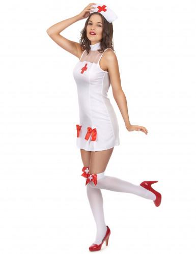 Déguisement infirmière robe sans manche femme-1