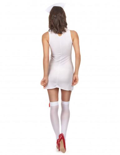Déguisement infirmière robe sans manche femme-2