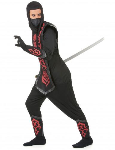 Déguisement ninja effet feutrine homme-1