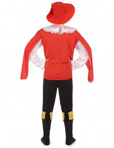 Déguisement mousquetaire rouge et noir homme-2