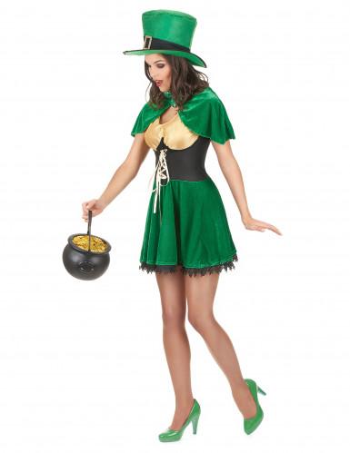 Déguisement leprechaun St Patrick femme-1