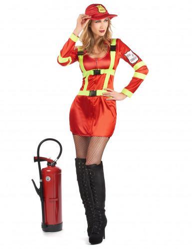 Déguisement pompier avec écusson femme-1