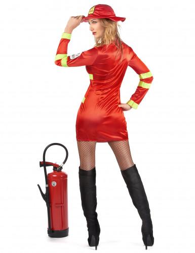 Déguisement pompier avec écusson femme-2