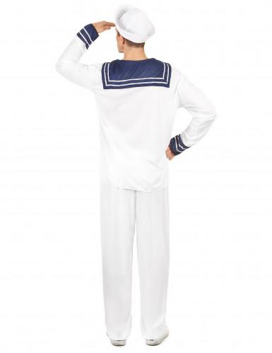 Déguisement marin blanc homme-2