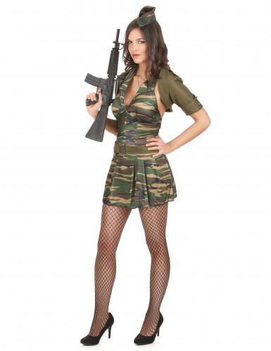 Déguisement militaire robe courte femme-1
