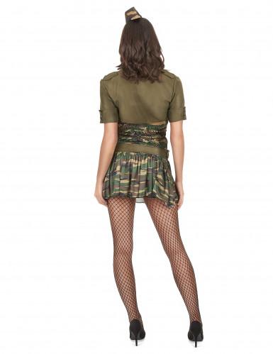 Déguisement militaire robe courte femme-2