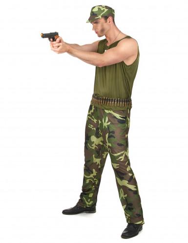 Déguisement militaire vert kaki homme-1