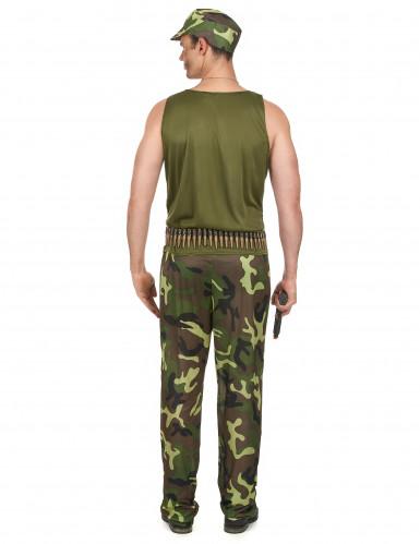 Déguisement militaire vert kaki homme-2