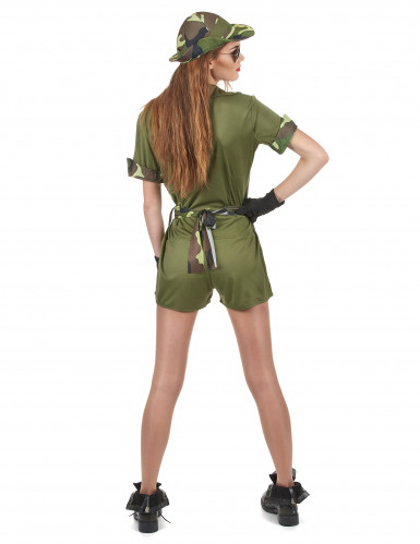 Déguisement militaire kaki femme-2